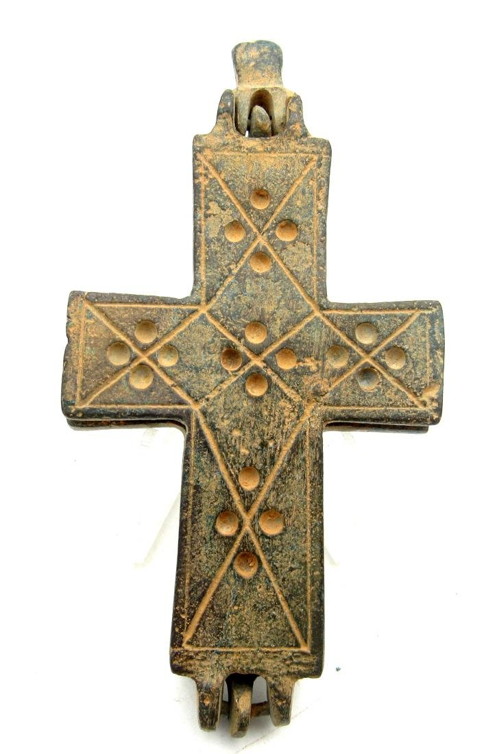 Medieval Crusaders Reliquary Cross, Mother Mary & Jesus - 2