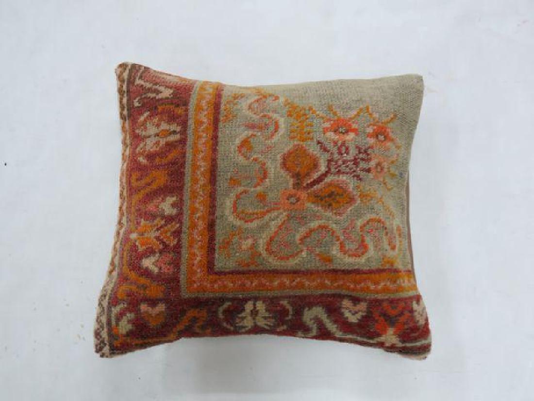 Oushak Rug Border Pillow 1.5x1.5 - 2