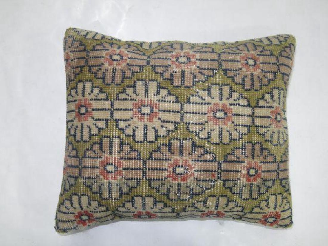 Green Turkish Rug Pillow 1.8x1.5 - 2