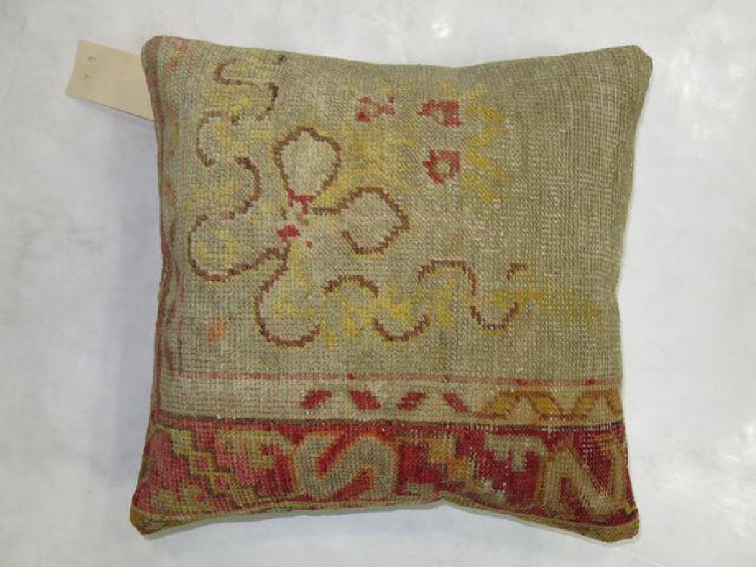 Vintage Turkish Oushak Rug Pillow 1.5x1.6 - 3