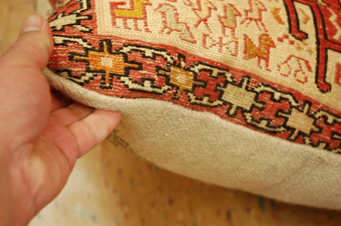 Highly Detailed Silk Sumak Kilim Rug Pillow 1.5x1.5 - 5