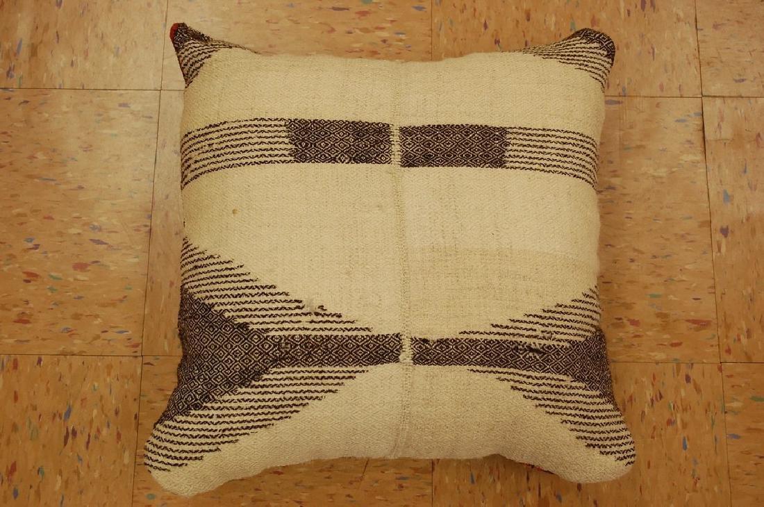 Highly Detailed Silk Sumak Kilim Rug Pillow 1.5x1.5 - 6
