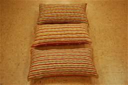 Three Antique Caucasian Kilim Rug Pillows 1.2x2