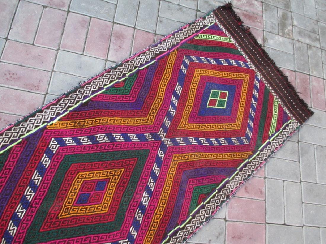 Hand made Suzni Wool Runner Rug 2.6x9.1 - 2