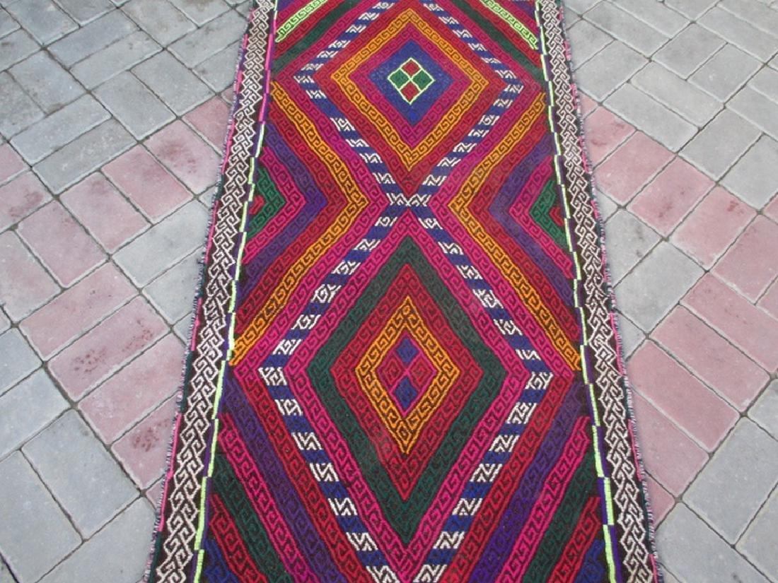 Hand made Suzni Wool Runner Rug 2.6x9.1 - 3