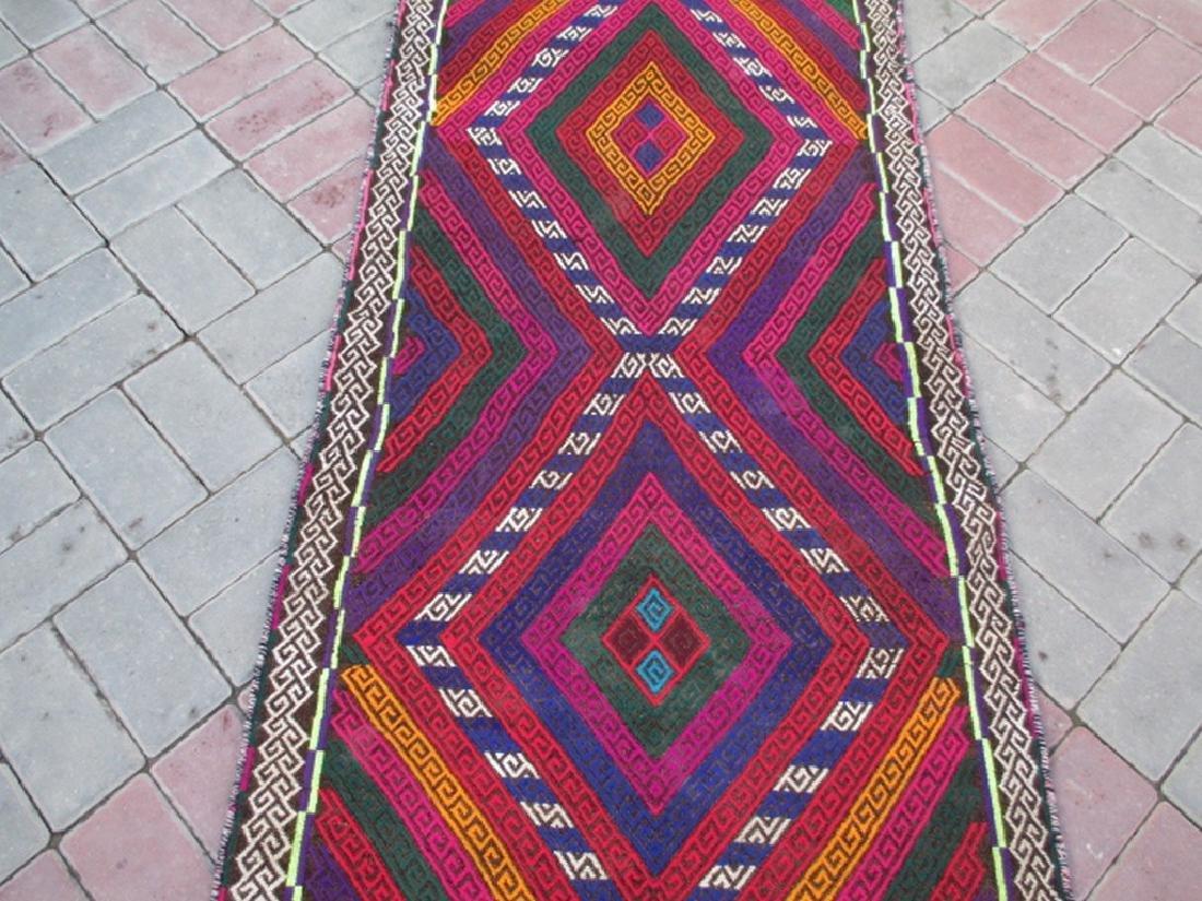 Hand made Suzni Wool Runner Rug 2.6x9.1 - 4