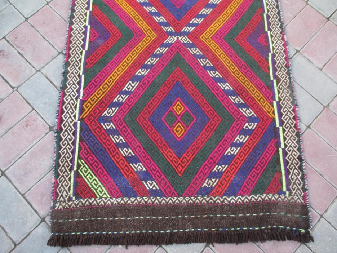 Hand made Suzni Wool Runner Rug 2.6x9.1 - 5