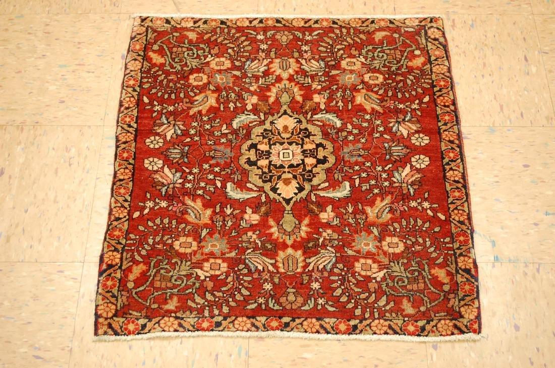 Square Persian Bijar Rug 2.3x2.5 2.3x2.5