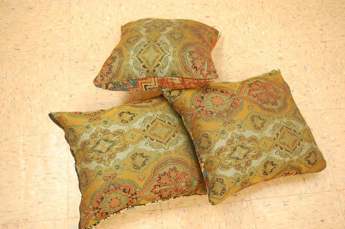 Three Highly Detailed Fine Antique Rug Pillows 1x1.5 - 5