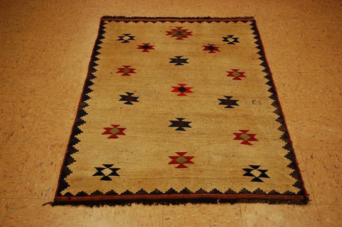 Persian Shiraz Qashkai Sofreh Kilim Woven Rug 3.4x5