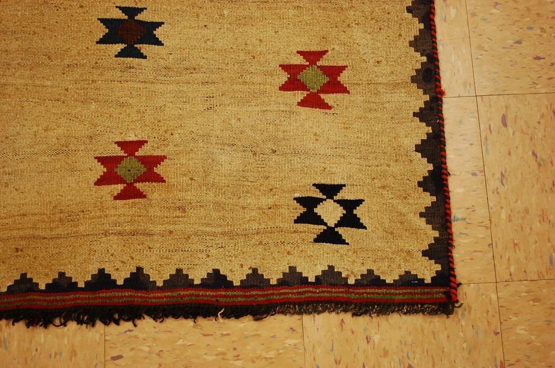 Persian Shiraz Qashkai Sofreh Kilim Woven Rug 3.4x5 - 2