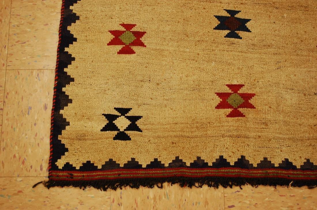 Persian Shiraz Qashkai Sofreh Kilim Woven Rug 3.4x5 - 3