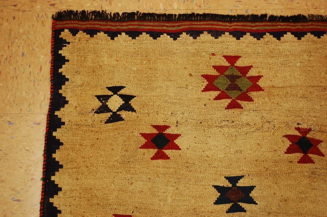 Persian Shiraz Qashkai Sofreh Kilim Woven Rug 3.4x5 - 4