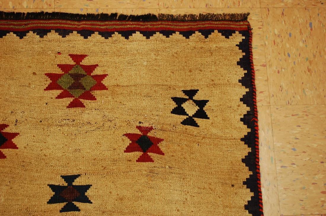 Persian Shiraz Qashkai Sofreh Kilim Woven Rug 3.4x5 - 5