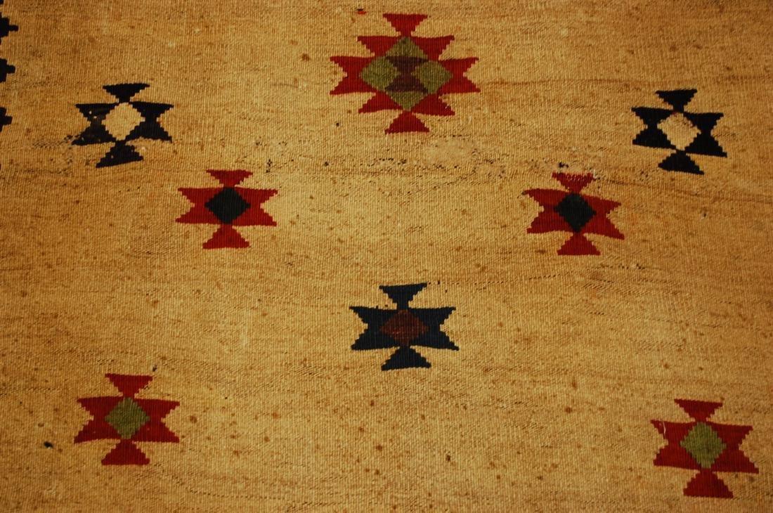 Persian Shiraz Qashkai Sofreh Kilim Woven Rug 3.4x5 - 6