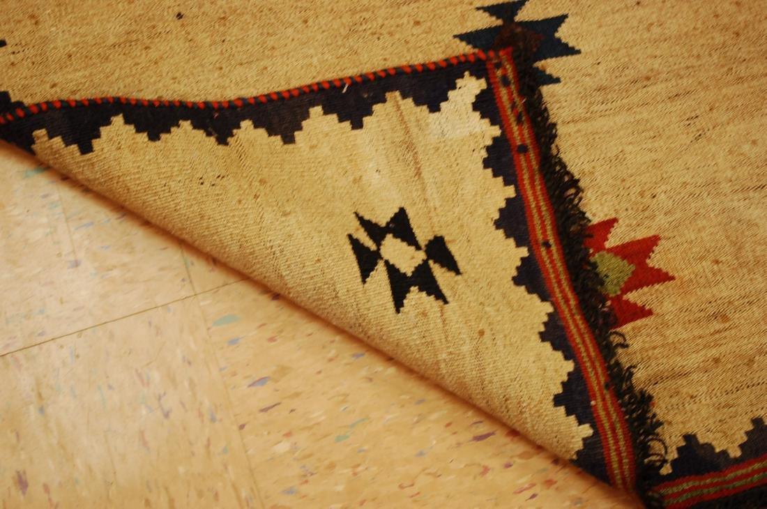 Persian Shiraz Qashkai Sofreh Kilim Woven Rug 3.4x5 - 7
