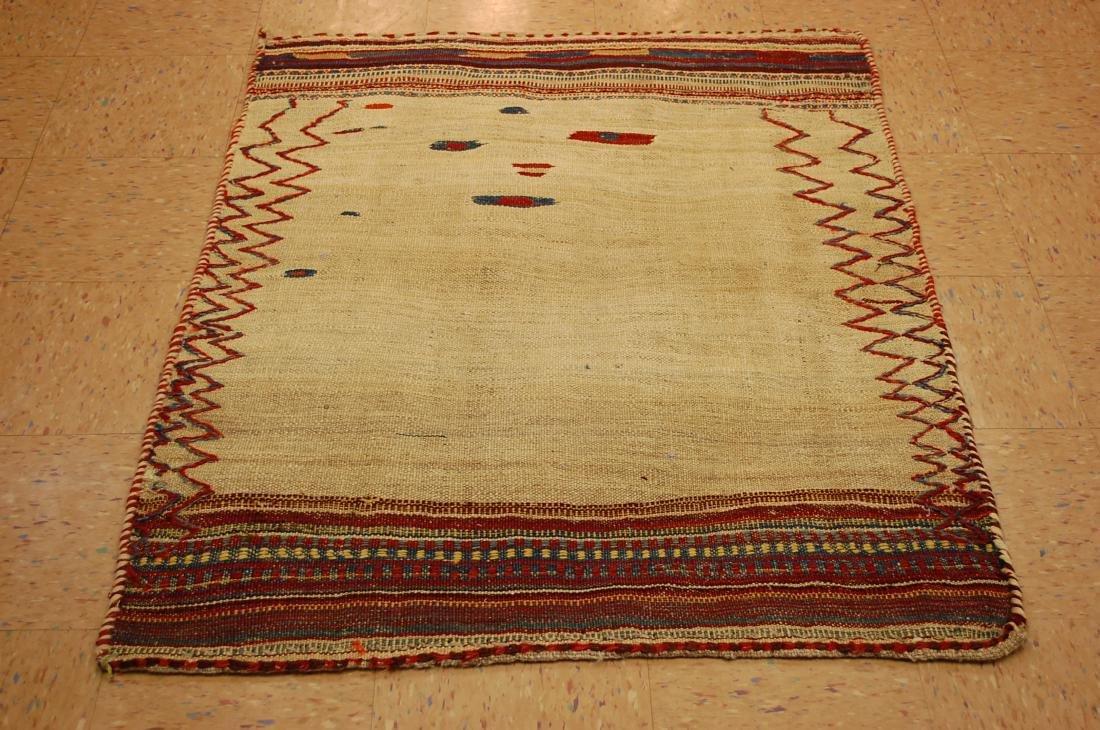 Persian Shiraz Qashkai Sofreh Kilim Woven Rug 3.6x4.4