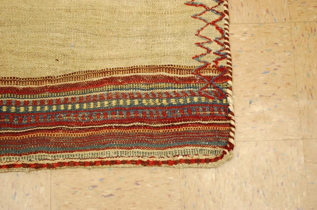 Persian Shiraz Qashkai Sofreh Kilim Woven Rug 3.6x4.4 - 2