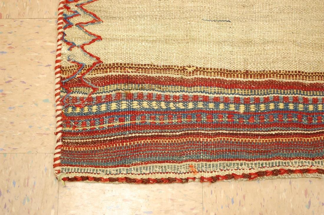 Persian Shiraz Qashkai Sofreh Kilim Woven Rug 3.6x4.4 - 3