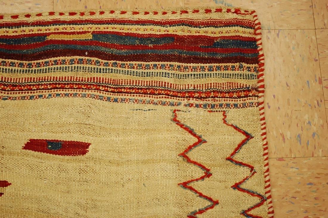 Persian Shiraz Qashkai Sofreh Kilim Woven Rug 3.6x4.4 - 5
