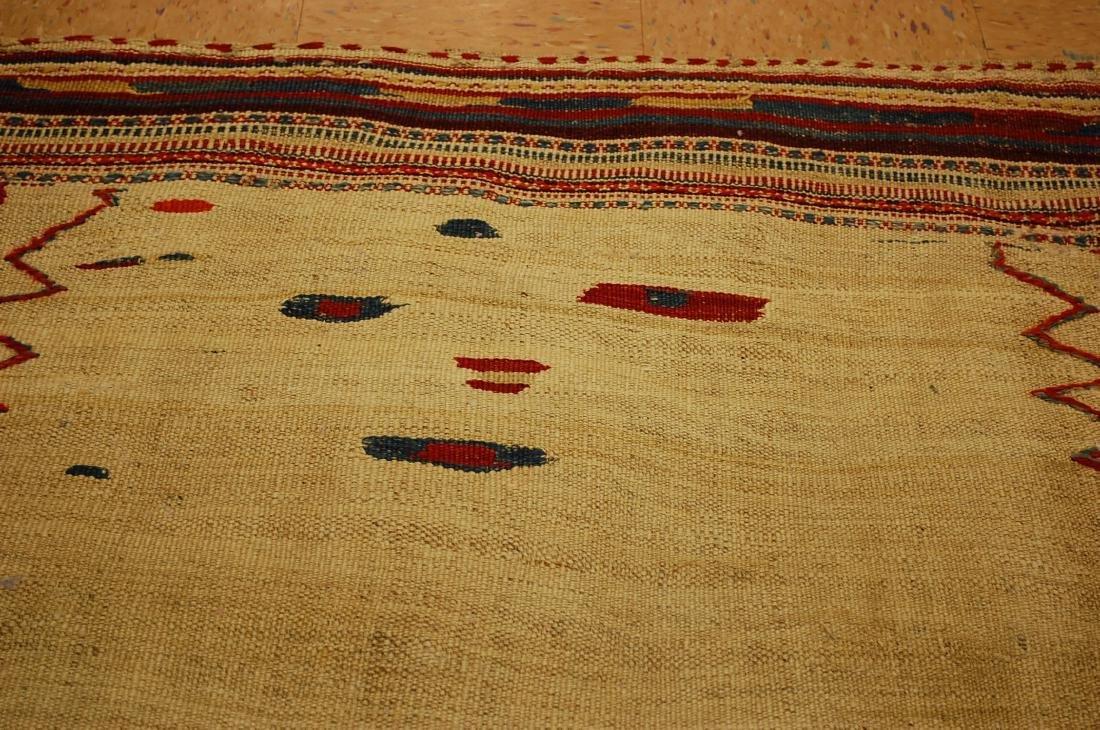Persian Shiraz Qashkai Sofreh Kilim Woven Rug 3.6x4.4 - 6