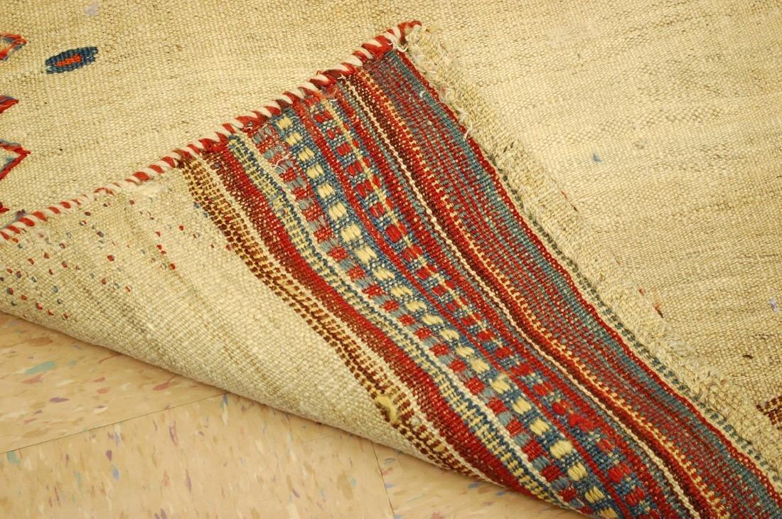Persian Shiraz Qashkai Sofreh Kilim Woven Rug 3.6x4.4 - 7