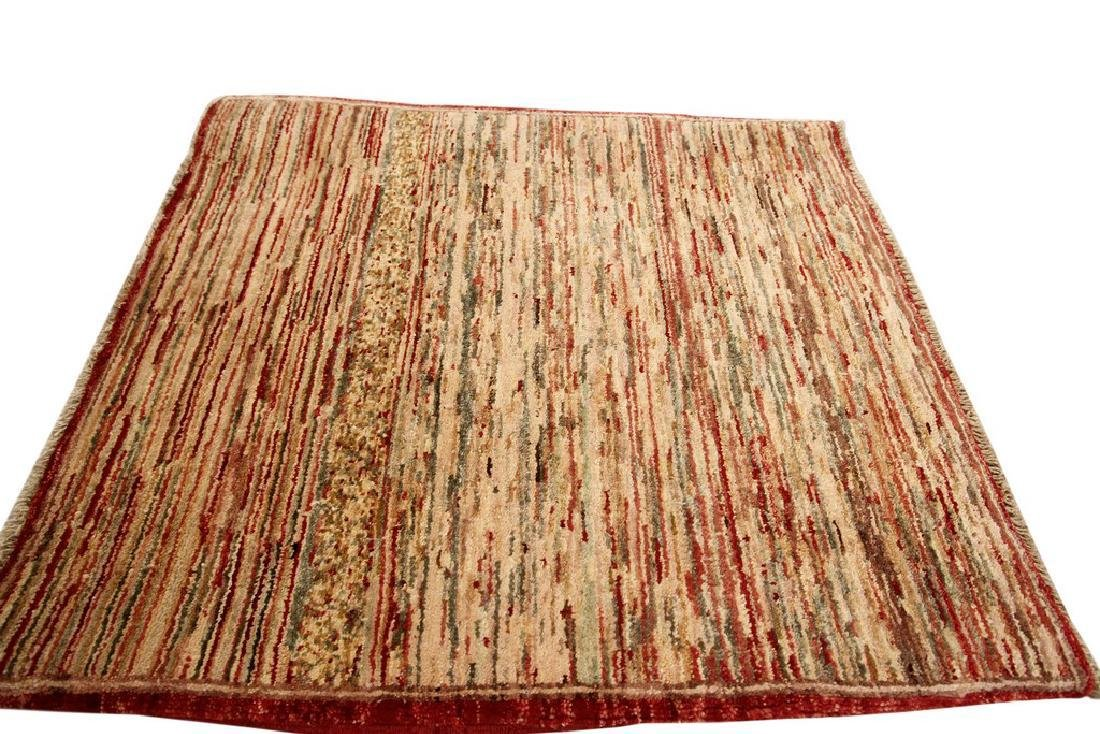 Authentic Persian Gabbeh Stripes Geometric Rug 2.1x2.7