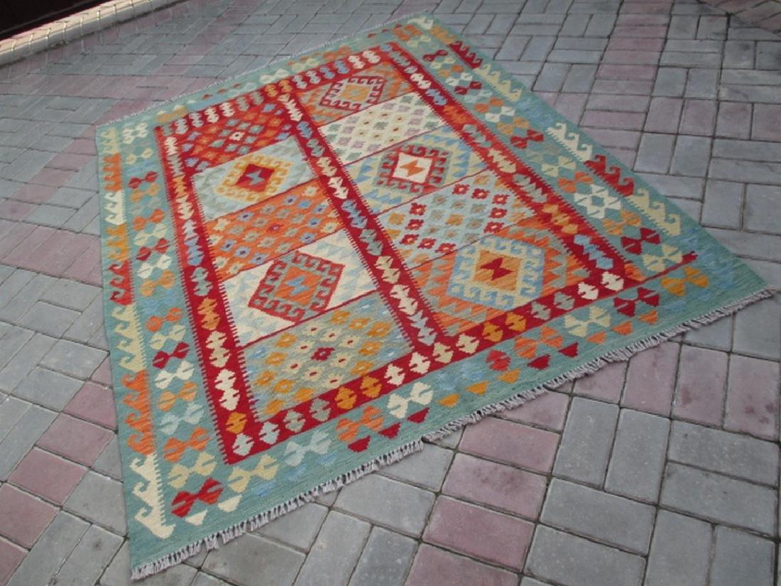 Hand Woven Chobi Kilim Rug 6.7x5