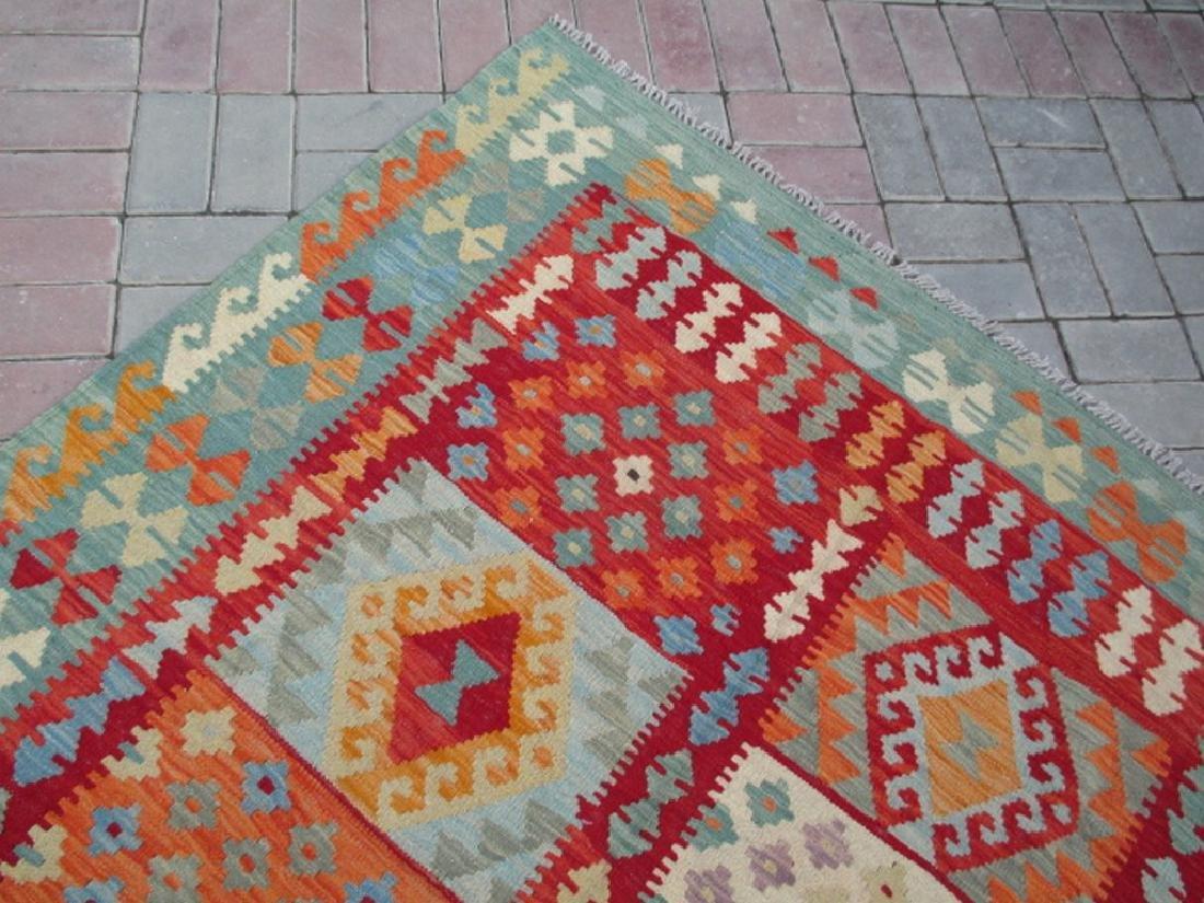 Hand Woven Chobi Kilim Rug 6.7x5 - 2