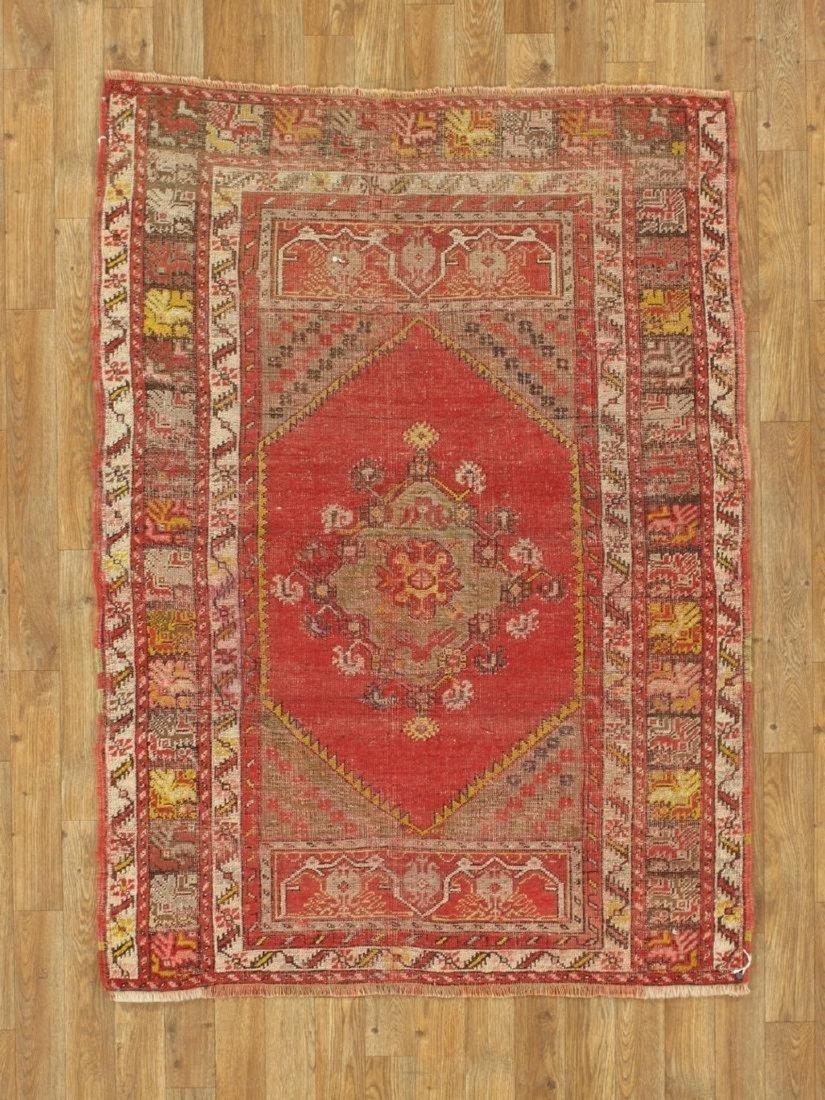 Antique Turkish Konia Rug 3.6x4.11