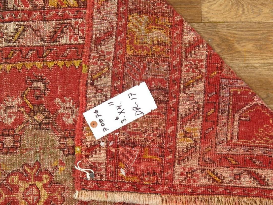 Antique Turkish Konia Rug 3.6x4.11 - 5