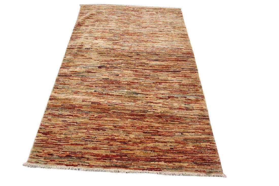 Authentic Persian Gabbeh Stripes Geometric Rug 3.5x5