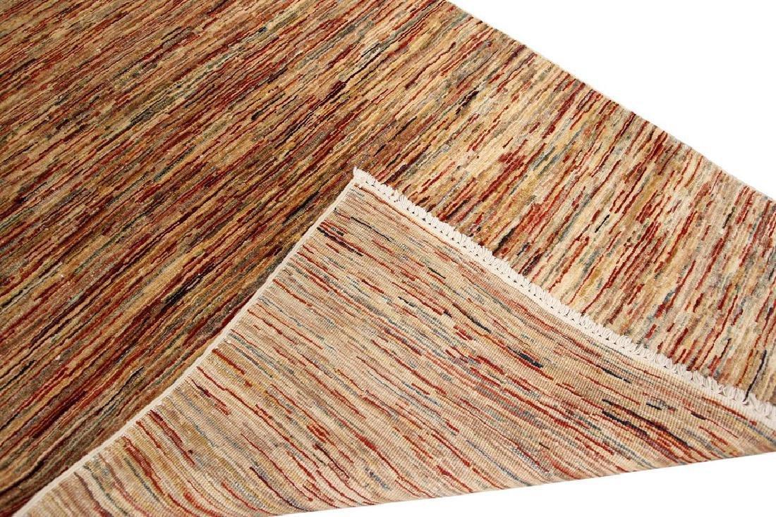 Authentic Persian Gabbeh Stripes Geometric Rug 3.5x5 - 2