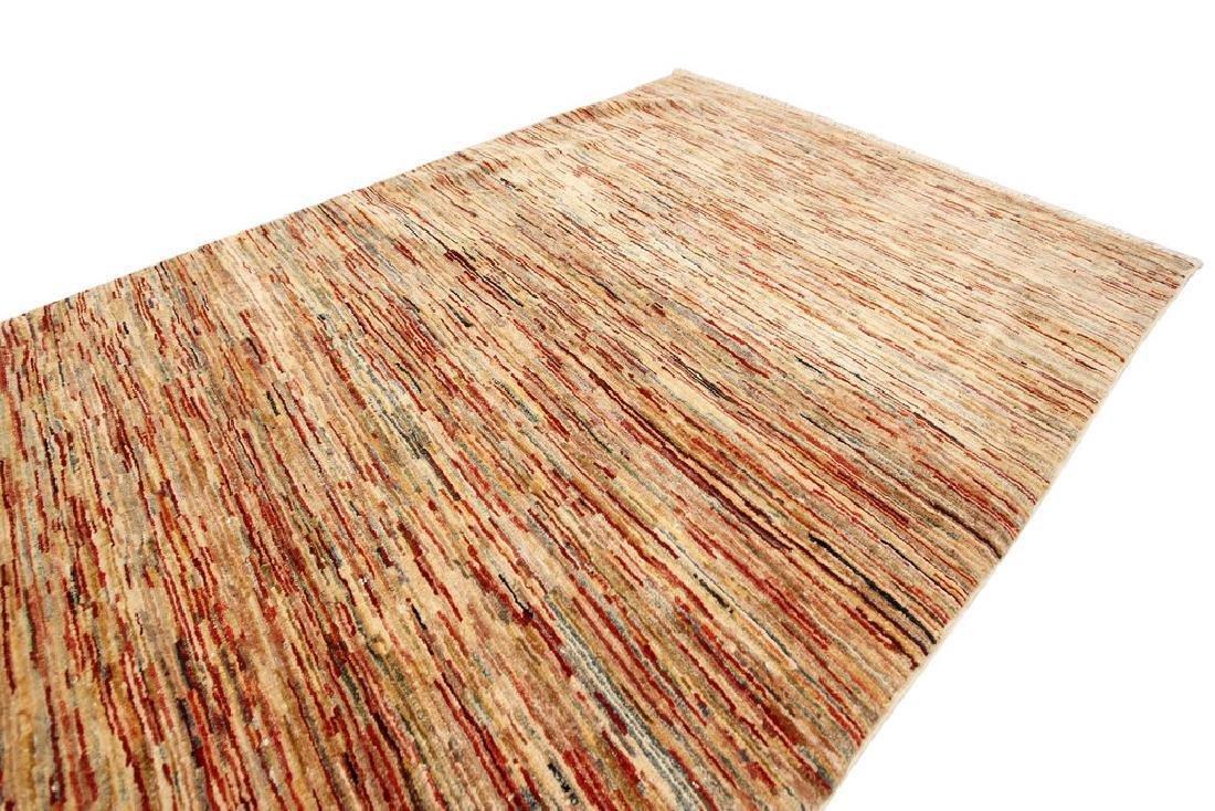 Authentic Persian Gabbeh Stripes Geometric Rug 3.5x5 - 4