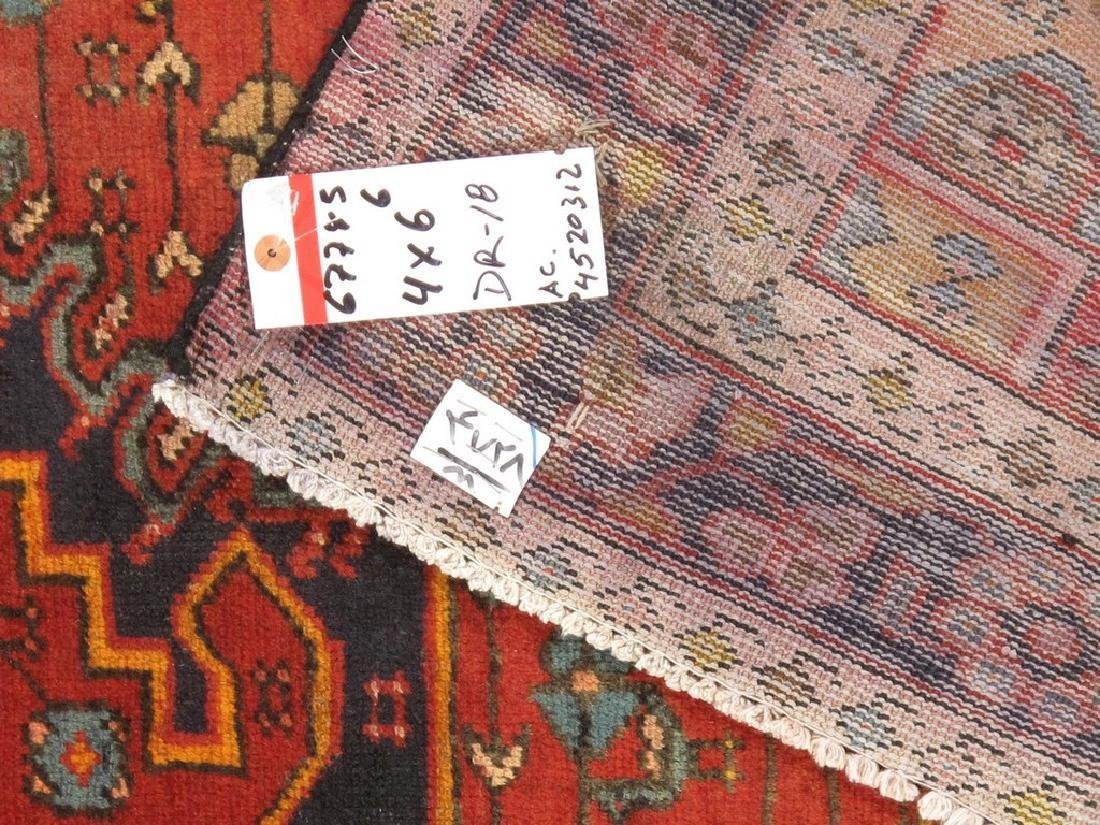 Persian Hamadan Rug 4x6.6 - 5