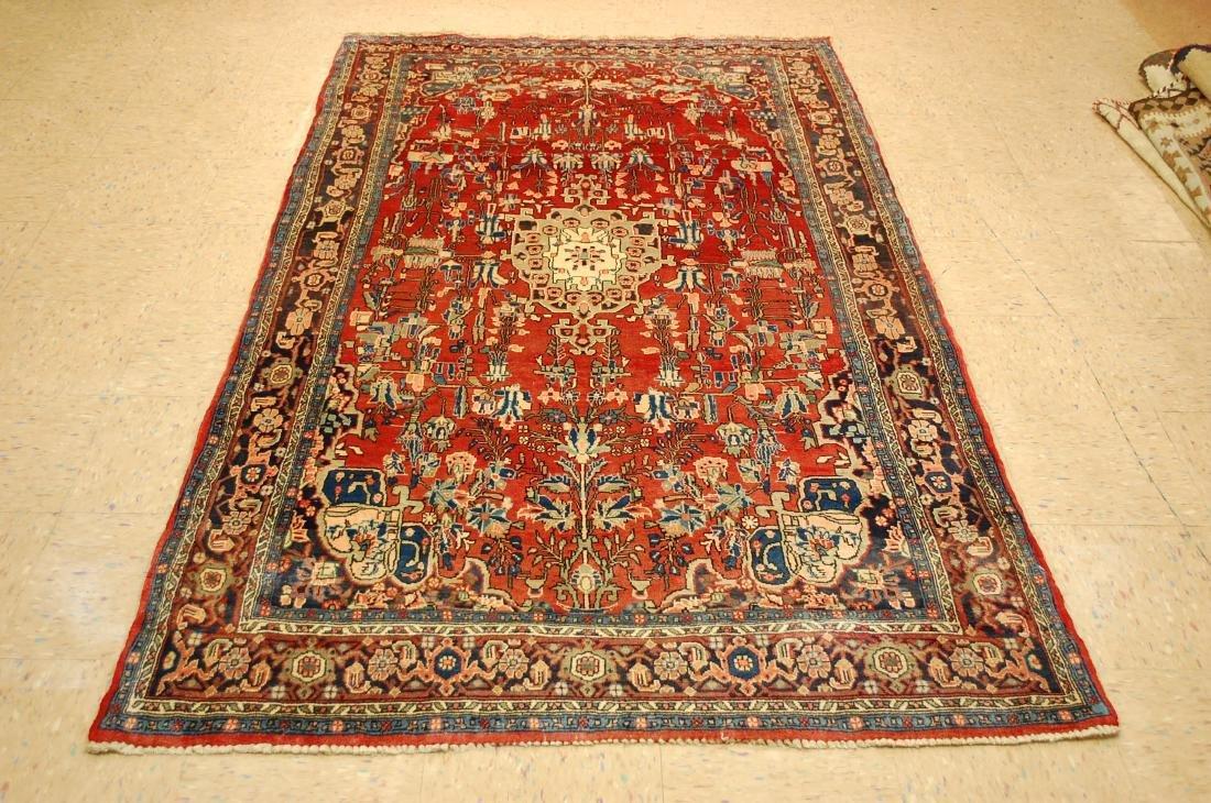 Detailed High Kpsi Persian Bijar Rug 4.5x7.10