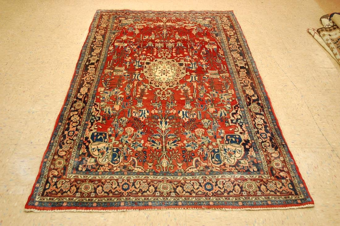 Detailed High Kpsi Persian Bijar Rug 4.5x7.10