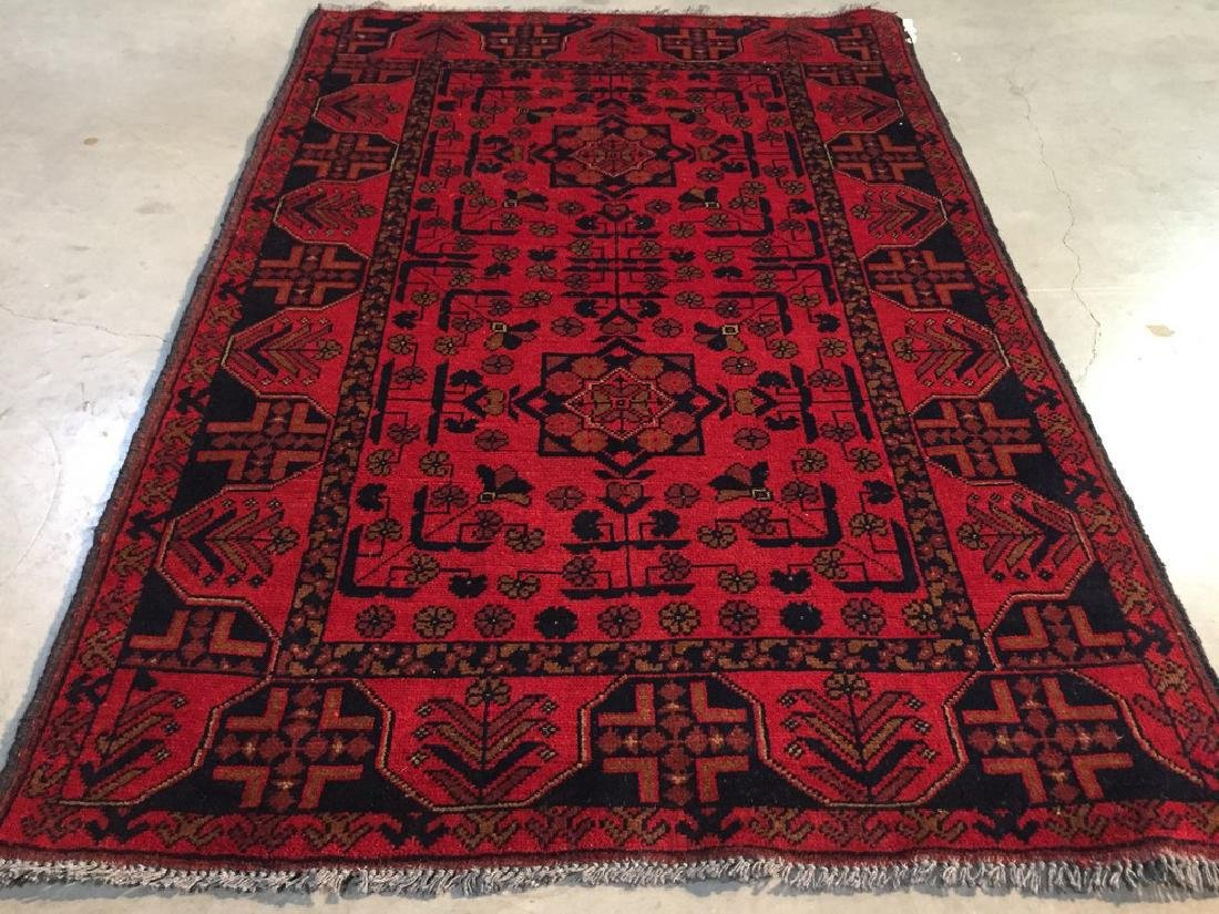 Decorative Hand Knotted Afghan Rug 3.3x5