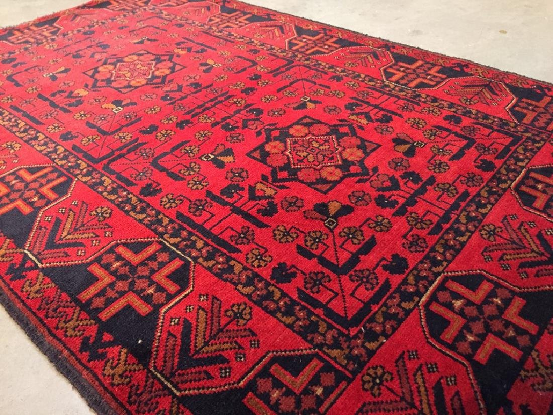 Decorative Hand Knotted Afghan Rug 3.3x5 - 4