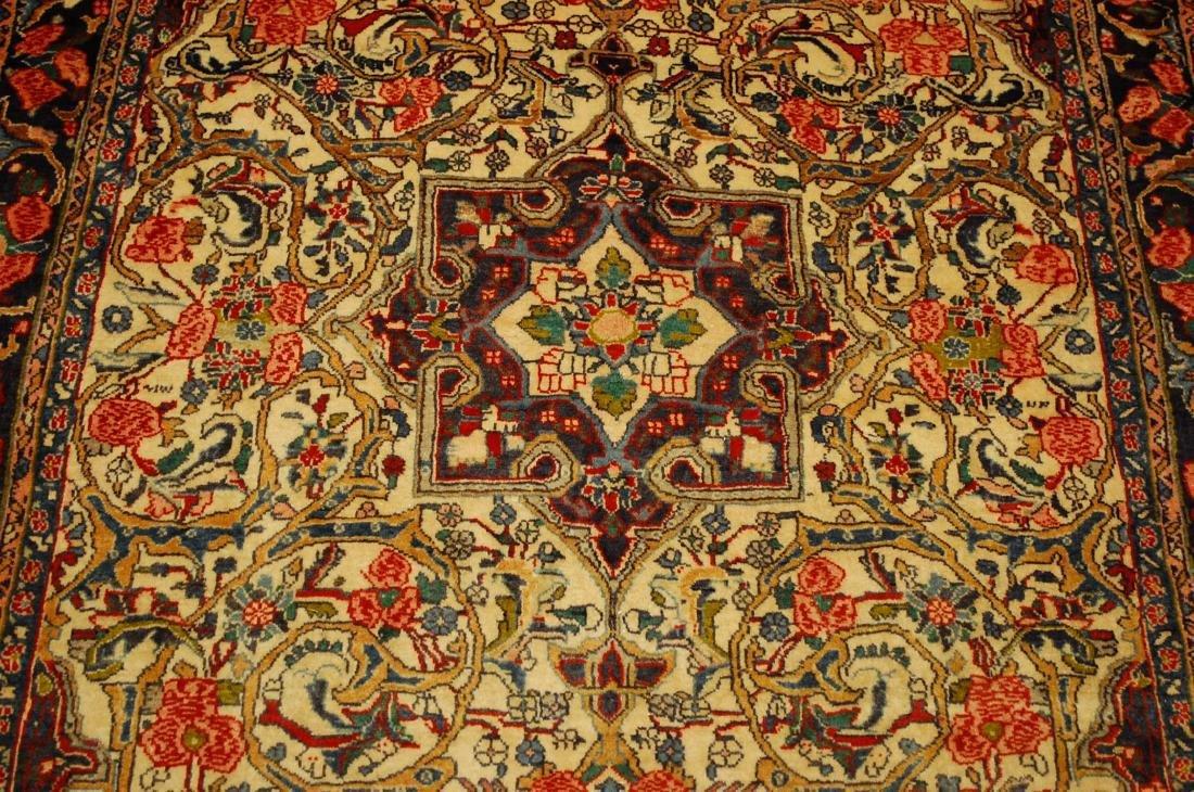 Rare Persian Bijar Rug 3.8x5.6 - 10