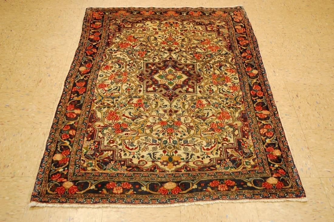 Rare Persian Bijar Rug 3.8x5.6