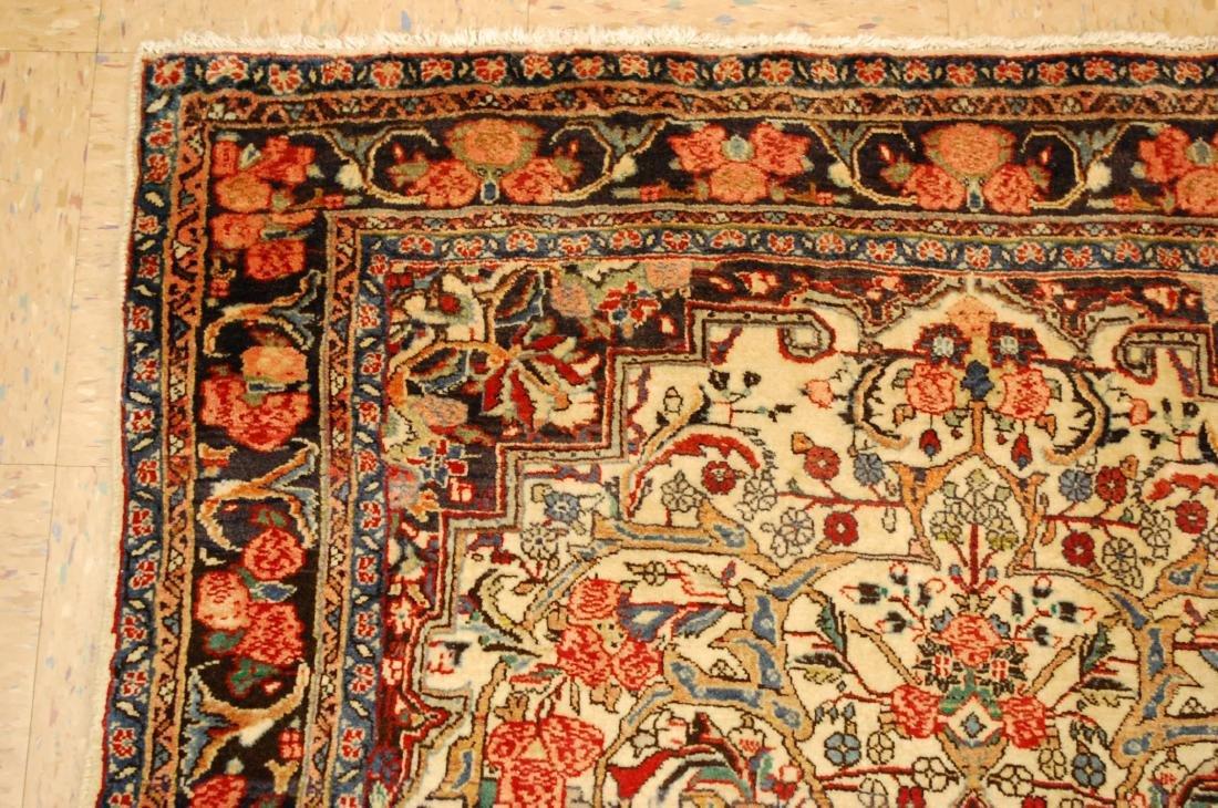 Rare Persian Bijar Rug 3.8x5.6 - 4
