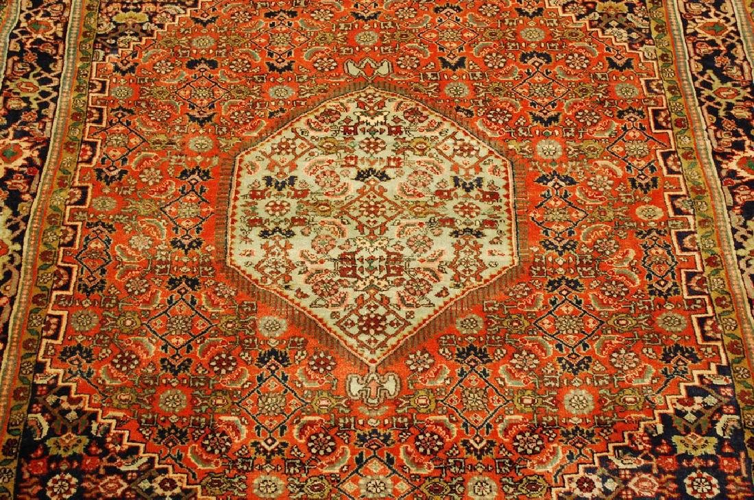 Detailed High Kpsi Persian Bijar Rug 4x5.4 - 10