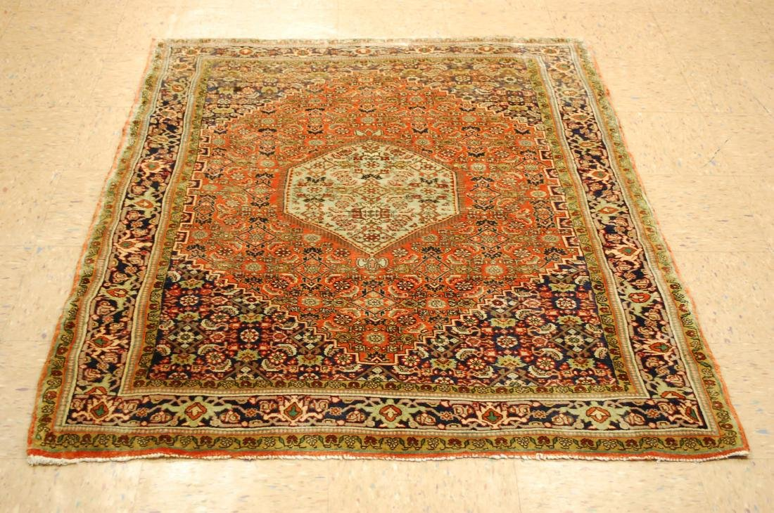 Detailed High Kpsi Persian Bijar Rug 4x5.4