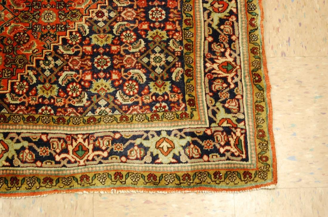Detailed High Kpsi Persian Bijar Rug 4x5.4 - 2