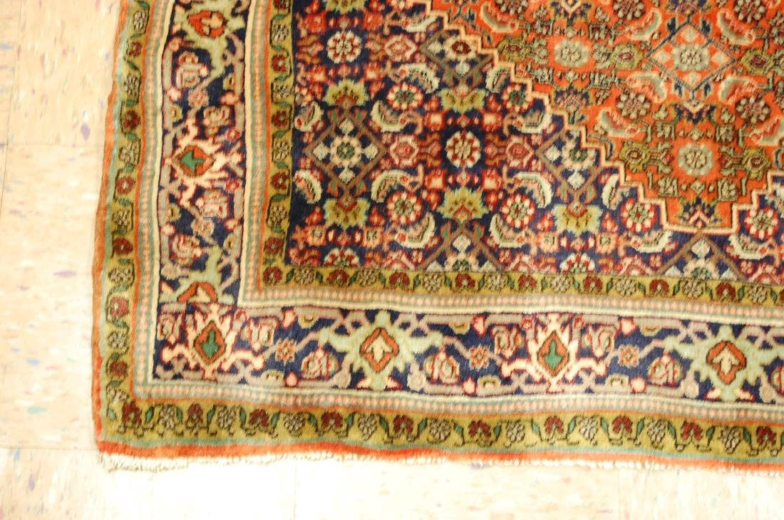 Detailed High Kpsi Persian Bijar Rug 4x5.4 - 3