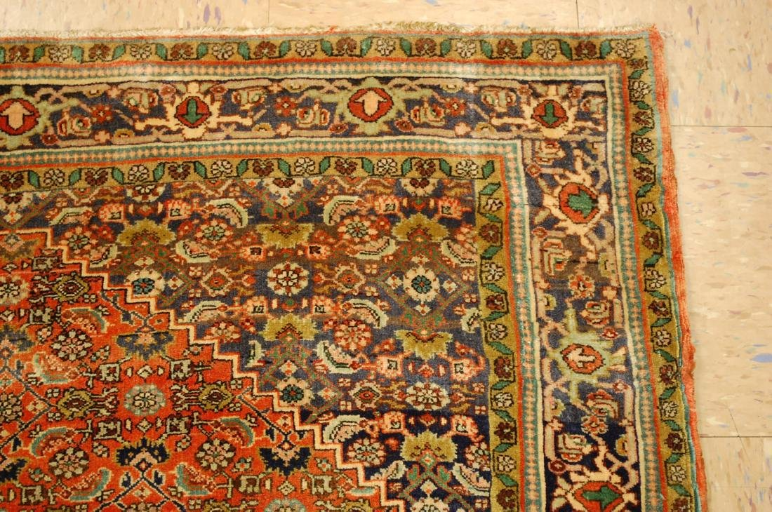 Detailed High Kpsi Persian Bijar Rug 4x5.4 - 5