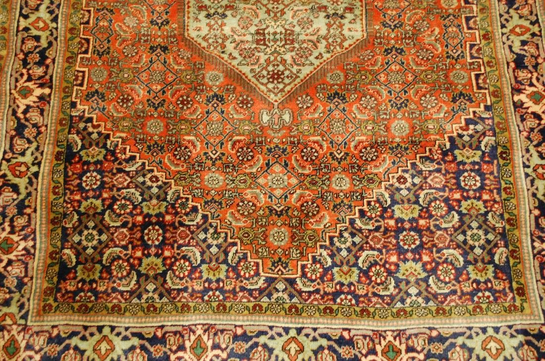 Detailed High Kpsi Persian Bijar Rug 4x5.4 - 6
