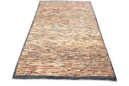 Authentic Persian Gabbeh Stripes Geometric Rug 4.6x6.2
