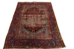 Antique Oushak Demirji Kula Rug Turkish Herekeh 4.6x5.4